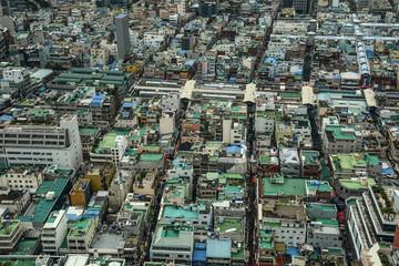 Aerial view of Busan, South Korea
