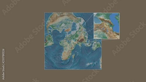 Armenia area framed and extracted from the global physical ...