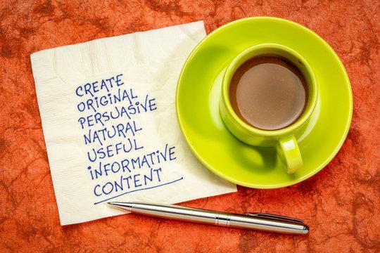 create original, useful, informative content