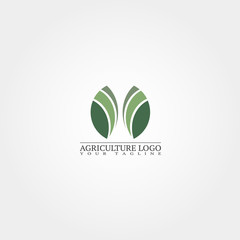 Agriculture logo template, vector logo for business corporate, farming icon, element, illustration.