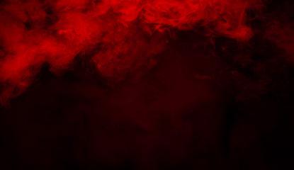 Garden Poster Smoke Red smoke stage studio. Abstract fog texture.