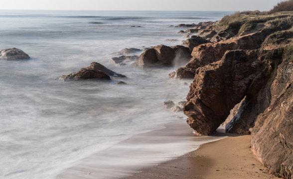 Côte rocheuse de Bretignolles sur mer en Vendée