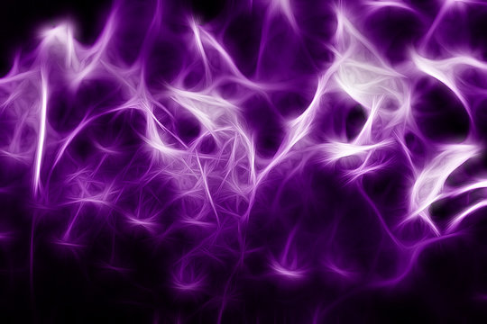 Abstract image of color fibers, obtained from the texture of a violet rose