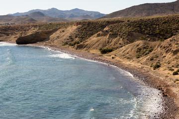Beach in La Isleta del Moro, Cabo de Gata Natural Park, Spain