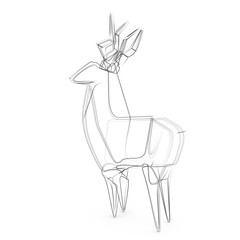 3d rendering illustration of deer