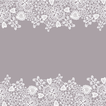 Lace pattern. Romantic fine lace frame card