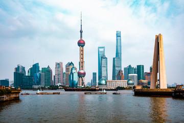 Wall Murals Shanghai Shanghai city skyline