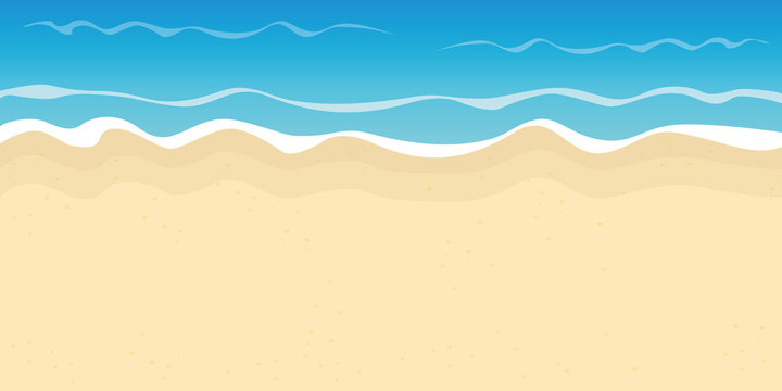 sandy beach and water summer holiday background vector illustration EPS10