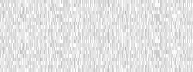 Long wide black and white horizontal panoramic texture background with abstract barcode pattern.