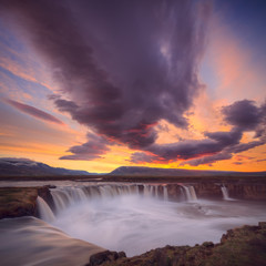 Famous Godafoss waterfall on north Iceland Iceland