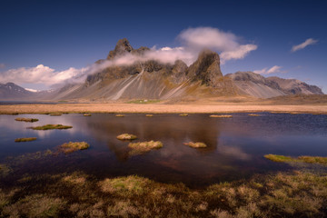 Mountain of Eystrahorn in the South-East of Iceland in a region called Lon