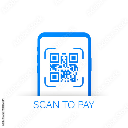 Scan to pay  Smartphone to scan QR code on paper for detail