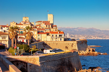 Antibes historic old town seafront and landmarks view Wall mural