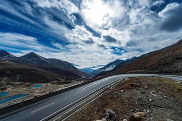 highland road to Daocheng, China