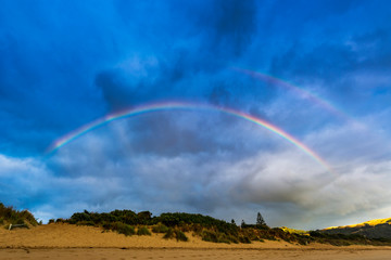 Magnificence of The Great Ocean Road - Victoria, Australia.the rainbow