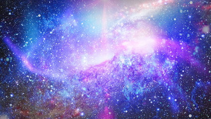 glowing nebula. Space background with red nebula and stars. Dreamscape galaxy. Deep space. Science fiction fantasy in high resolution ideal for wallpaper. Elements of this image furnished by NASA