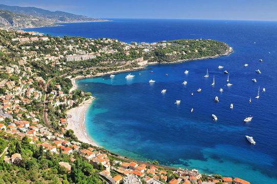 Roquebrune Cap Martin seen from Mont Gros above Monaco, Departement Alpes Maritimes, Region Provence Alpes Cote d'Azur, France.