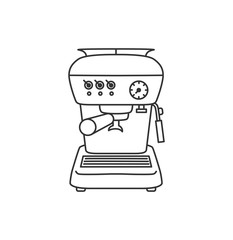 Vector illustration concept of Coffee machine. Black on white background