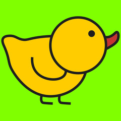 Duckling in a cartoon style