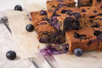 Blueberry square bars, low carb dessert