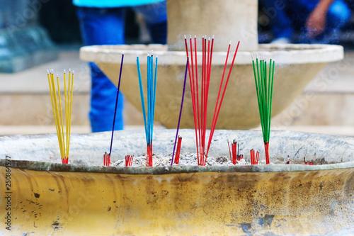 Burning incense sticks  Incense for praying Buddha or Hindu