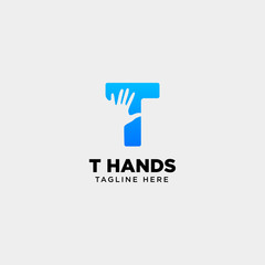 minimal t letter, initial hand logo template vector illustration icon element