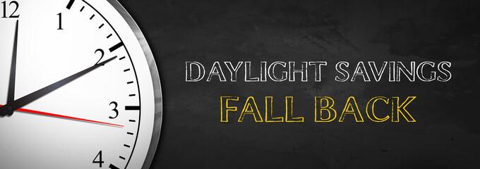 Blackboard Clock - Daylight Savings Fall Back