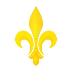 Golden Fleur-de-lis symbol