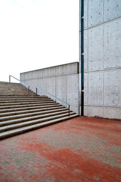Modern Buildings and Stairs