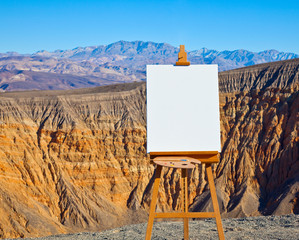 Artist's Easel and Canvas in Desert