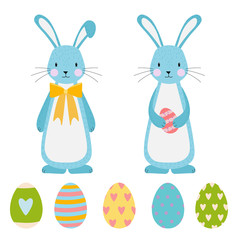 Easter vector elements