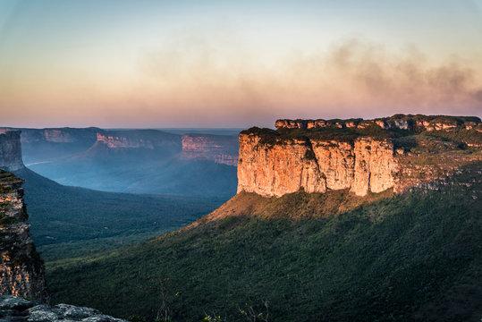 View of the Vale do Capao from the Morro do Pai Inacio, Chapada Diamantina, Bahia, Brazil