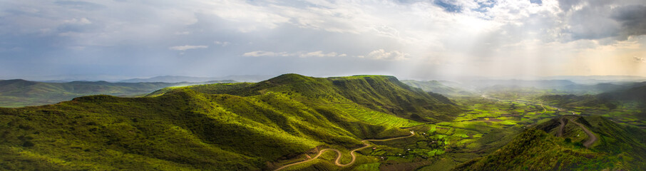 Landscape from a viewpoint in Lalibela