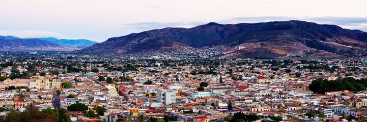 Panoramic Cityscape of Oaxaca