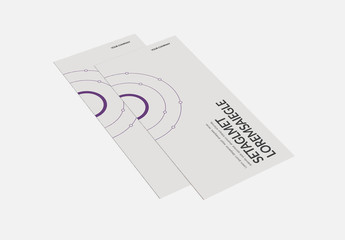 Brochure Layout With Purple Accents