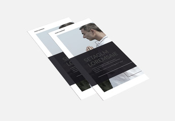 Meditation-Themed Brochure Layout With Black Accents