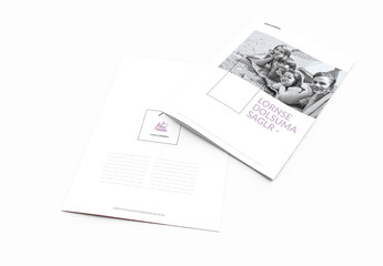 Family-Themed Brochure Layout With Purple Accents