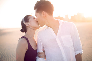 Coney Island,  Couple on beach