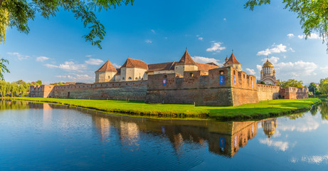 Wall Mural - Medieval Fagaras fortress, citadel and castle in Transylvania, Romania