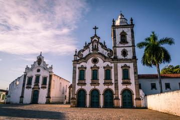 Church Santa Maria Magdalena and Museu de Arte Sacra, Praça João XXIII, Marechal Deodoro, Maceio, Alagoas, Brazil
