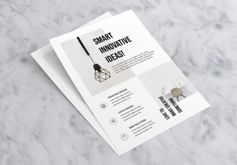 Flyer Layout with Tan Accents