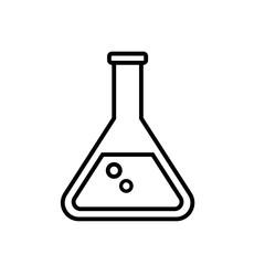 beaker tube vector icon. Chemistry or pharmacy symbol