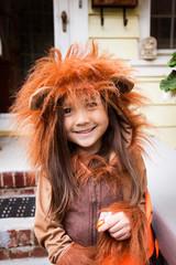 Portrait of girl (4-5) in costume