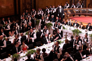 General view at the traditional St.Matthew's Day banquet (Matthiae-Mahlzeit) in the City Hall in Hamburg