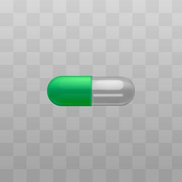 Vector capsule pill painkiller vitamin drug icon