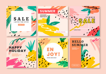 Summer Sale Social Media Post Layouts
