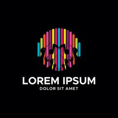 colorful music logo