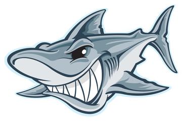 Great white shark cartoon
