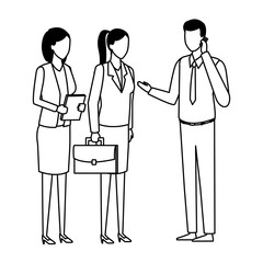 business teamwork meeting faceless black and white