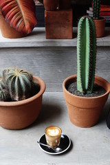 hot cafe latte
